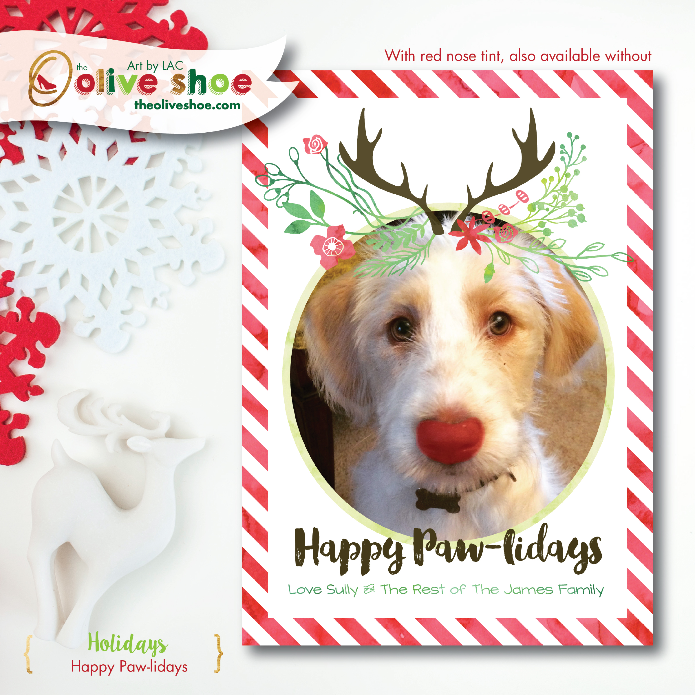 Happy Paw-lidays | Pet Christmas Card | Design by LAC JAMES ...